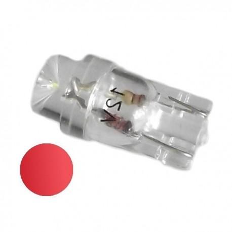 Żarówka Led R10 walcowa 12V czerwona