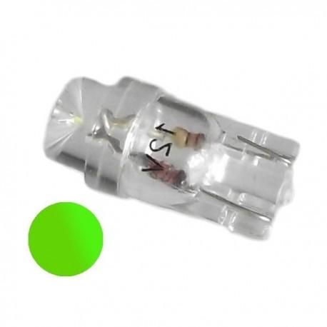 Żarówka Led R10 walcowa 12V zielona