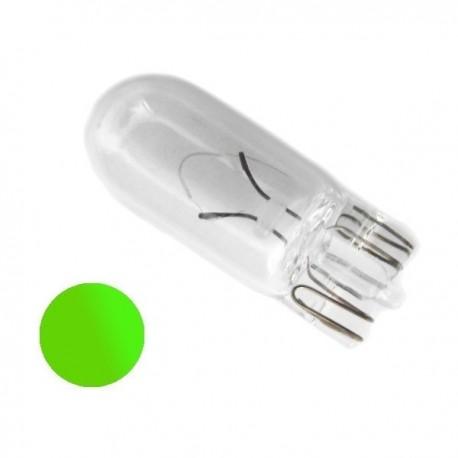 Żarówka R10 szklana 12V zielona