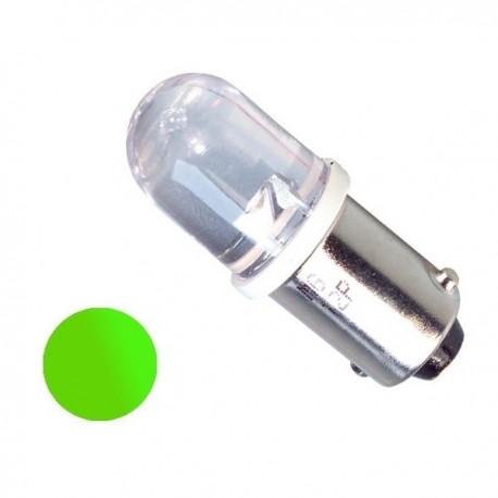 Żarówka Led BA9S 10mm 12V zielona