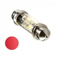 Żarówka Led 10x36 6x 3mm 12V czerwona