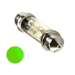 Żarówka Led 10x36 6x 3mm 12V zielona