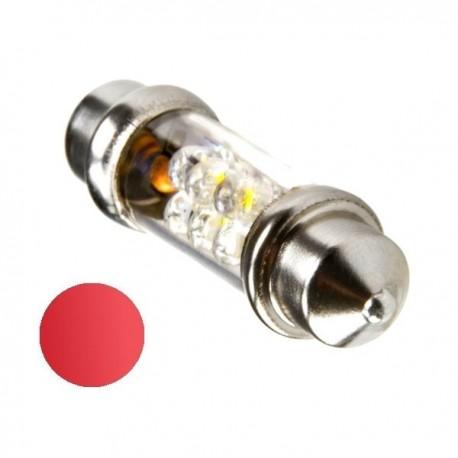 Żarówka Led 10x42 6x 3mm 12V czerwona
