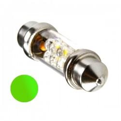 Żarówka Led 10x42 6x 3mm 12V zielona