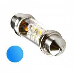 Żarówka Led 10x42 6x 3mm 12V niebieska