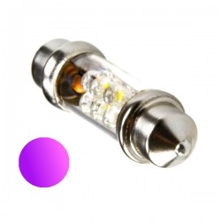 Żarówka Led 10x42 6x 3mm 12V UV