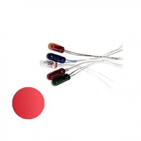 Żarówka 3x7 mm szklana 12V czerwona