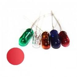 Żarówka 4x10 mm szklana 12V czerwona