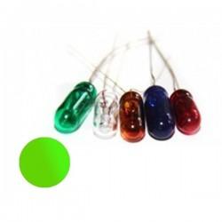Żarówka 4x10 mm szklana 12V zielona