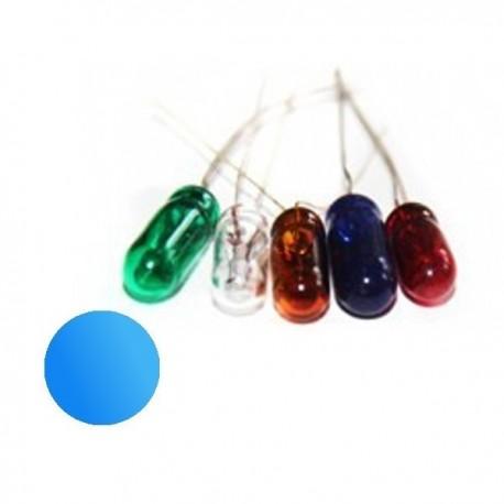 Żarówka 4x10 mm szklana 12V niebieska