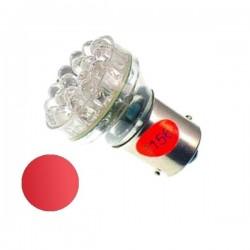 Żarówka Led BA15S 24x 5mm 12V czerwona