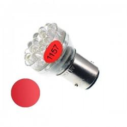 Żarówka Led BAY15D 24x 5mm 12V czerwona