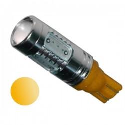 Żarówka LED R10 5x COB 12V pomarańczowa