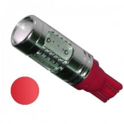 Żarówka LED R10 5x COB 12V czerwona