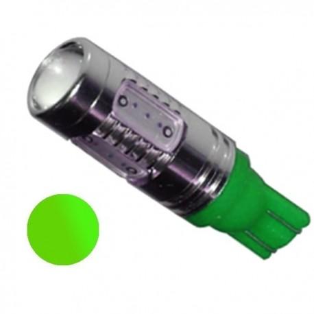 Żarówka LED R10 5x COB 12V zielona