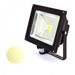 Naświetlacz Led 50W PIR 230V biały ciepły