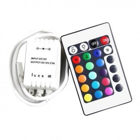 Sterownik RGB na podczerwień 24 przyciski MINI 6A 72W 12V