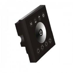 Ściemniacz ścienny czarny panel 2x4A 96W 12-24V