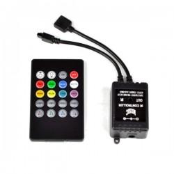 Sterownik RGB na podczerwień muzyczny 20 przycisków MINI czarny 6A 72W 12V