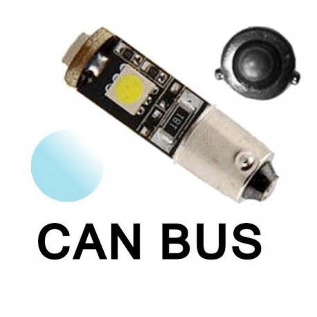 Żarówka Led BAX9S CANBUS 3x SMD 5050 12V biała