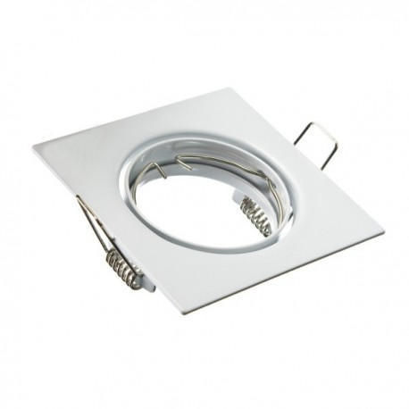 Oprawa żarówki GU10 / MR16 ruchoma kwadrat biała