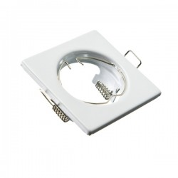 Oprawa żarówki GU10 / MR16 stała kwadrat biała