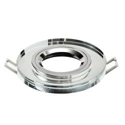 Oprawa żarówki GU10 / MR16 okrągła szkło lustro