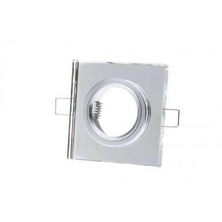 Oprawa żarówki GU10 / MR16 kwadrat szkło lustro