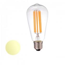 Żarówka Led E27 6W Filament ST64 230V biała ciepła