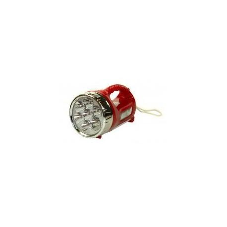 Latarka 7+4 Led czerwona ręczna z akumulatorem