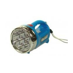 Latarka 7+4 Led niebieska ręczna z akumulatorem