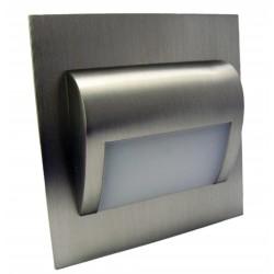 Lampa Led schodowa Beryl kwadrat 9 SMD 2835 1,4W 12V biały ciepły fi60