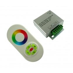 Sterownik RGB radiowy seria Touch z przyciskami biały 12V