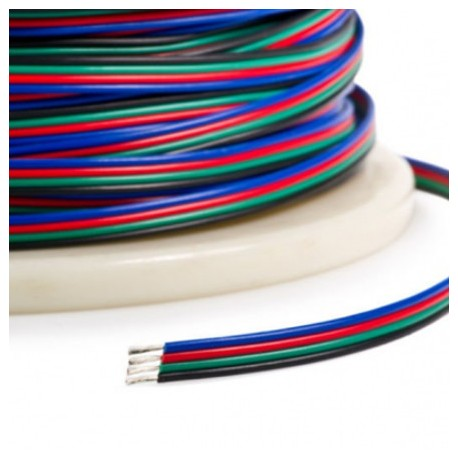 Przewód Linka 4x0,35mm rolka 100mb RGB