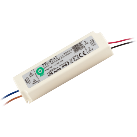 Zasilacz hermetyczny 60W 5A IP67 12V