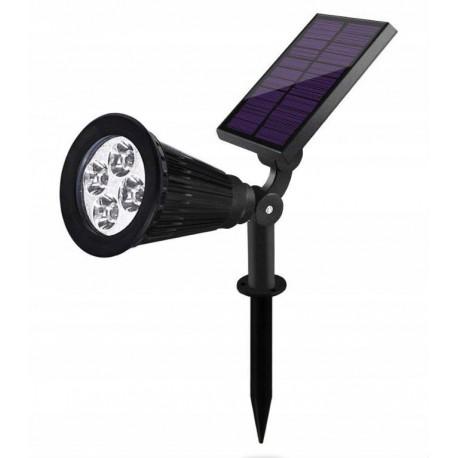 Lampa LED solarna wbijana 5500K projektor