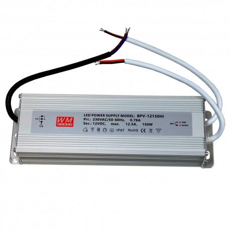 Zasilacz hermetyczny aluminium 150W 12,5A IP67 12V