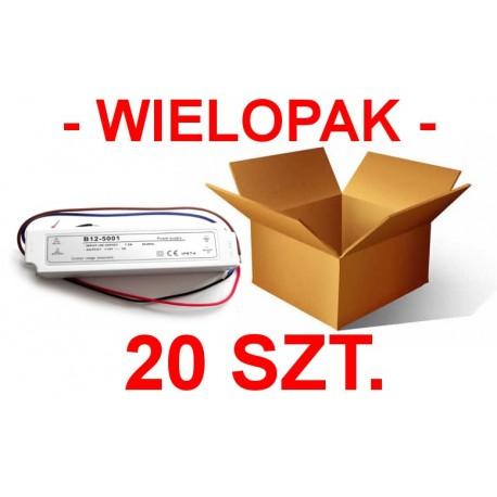 Paczka hurtowa 20 zasilaczy hermetycznych 36W 12V IP67
